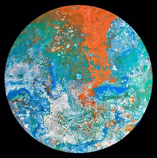 Art: Planet 6 by Artist Ulrike 'Ricky' Martin