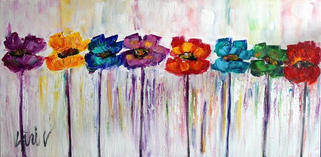 Art: Poppy Flowers Rainbow Colors by Artist LUIZA VIZOLI