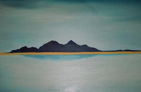 Art: Atacama Salt Lake by Artist Rossi Kelton