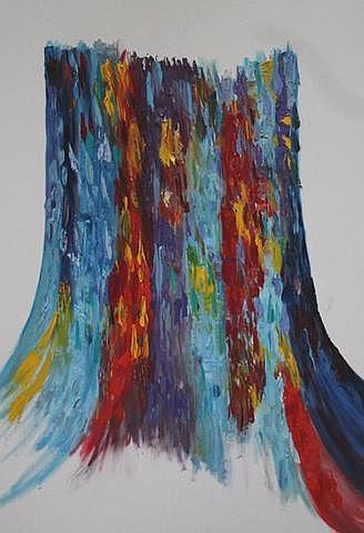 Art: Australian Eucalyptus tree by Artist Rossi Kelton