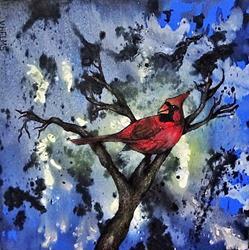 Art: Cardinal by Artist Vicky Helms