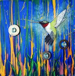 Art: Hummingbird by Artist Vicky Helms