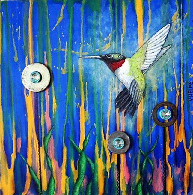 Art: Hummingbird by Artist Vicky Helms