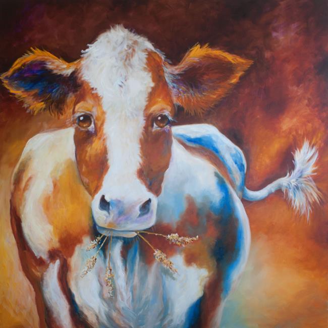 Art: HAPPY COW COMMISSION 2017 by Artist Marcia Baldwin