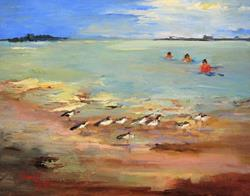 Art: Sea Terns by Artist Delilah Smith
