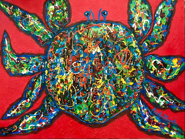 Art: Crab Salad  - Sold by Artist Ulrike 'Ricky' Martin