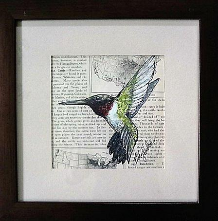 Art: Hummingbird Two (SOLD) by Artist Vicky Helms