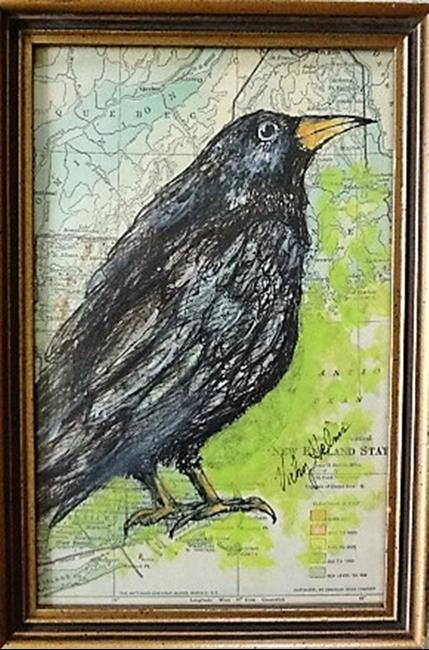 Art: Crow by Artist Vicky Helms