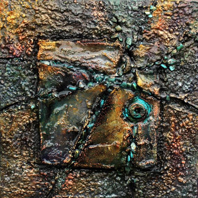 Art: Rock Formation 1 by Artist Patricia Lintner
