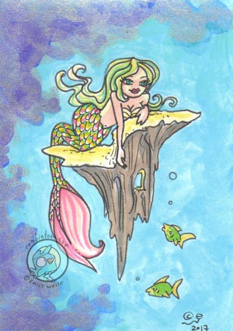Art: Silver Krill by Artist Emily J White
