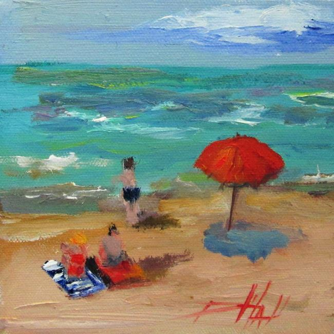 Art: At the Beach by Artist Delilah Smith