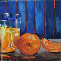 Art: Juice and Orange by Artist Delilah Smith