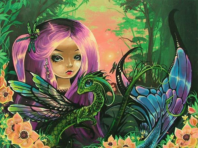 Art: Dragonfly Mermaid by Artist Nico Niemi