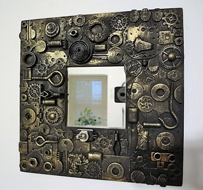Art: Steampunk Mirror by Artist Vicky Helms