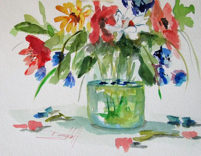 Art: Floral Still Life by Artist Delilah Smith