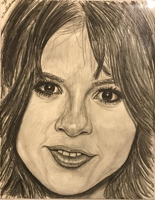 Art: Selena Gomez.~HOLLYWOOD-POPSTAR~ by Artist William Powell Brukner