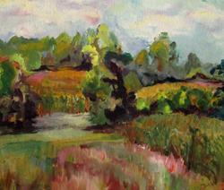 Art: Country Corn Fields by Artist Delilah Smith