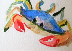 Art: Very Blue Crab by Artist Delilah Smith