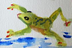 Art: Frog by Artist Delilah Smith