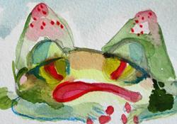 Art: Tired Frog by Artist Delilah Smith