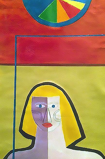 Art: Woman by Artist Rossi Kelton