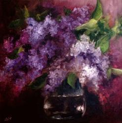 Art: Lilac Bouquet by Artist Christine E. S. Code ~CES~