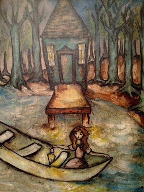 Art: A Place to Dock by Artist Chris Jeanguenat