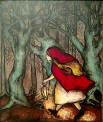 Art: Little Red Riding Hood by Artist Chris Jeanguenat