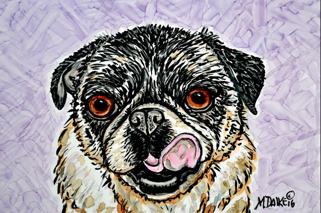 Art: Panini Pug by Artist Melinda Dalke