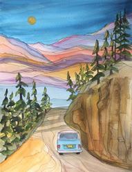 Art: The Hill by Artist Kathy Crawshay