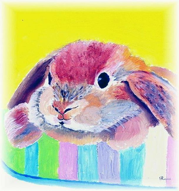 Art: Easter bunny by Artist Rossi Kelton
