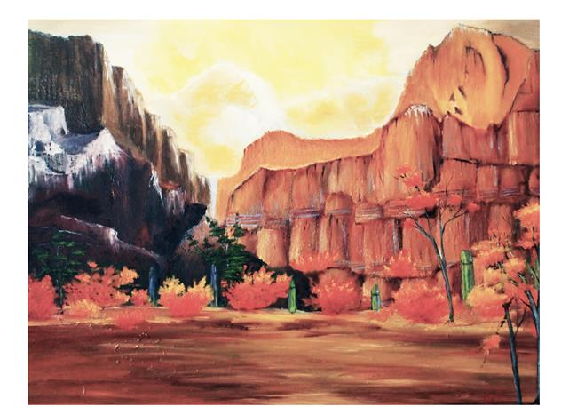 Art: fall in desert by Artist Rossi Kelton