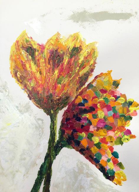 Art: flower by Artist Rossi Kelton