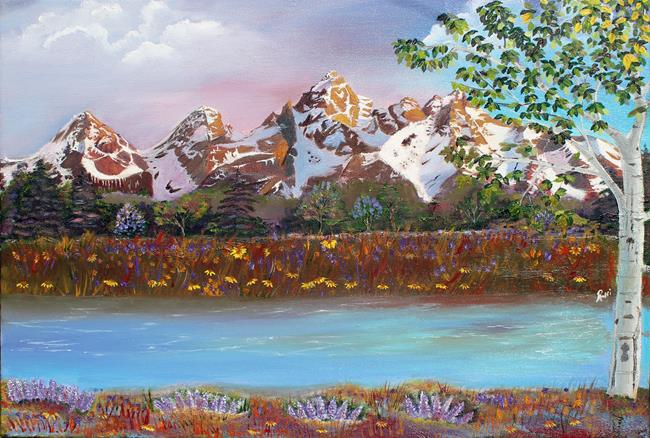 Art: Grand Teton Adventure by Artist Rossi Kelton