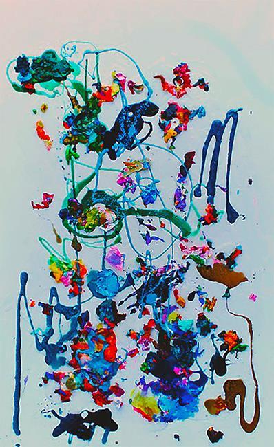 Art: happy place by Artist Rossi Kelton