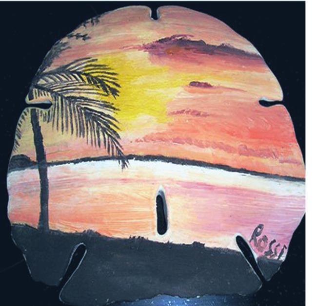 Art: Miami sky sandollar by Artist Rossi Kelton
