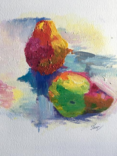 Art: pear surprise by Artist Rossi Kelton
