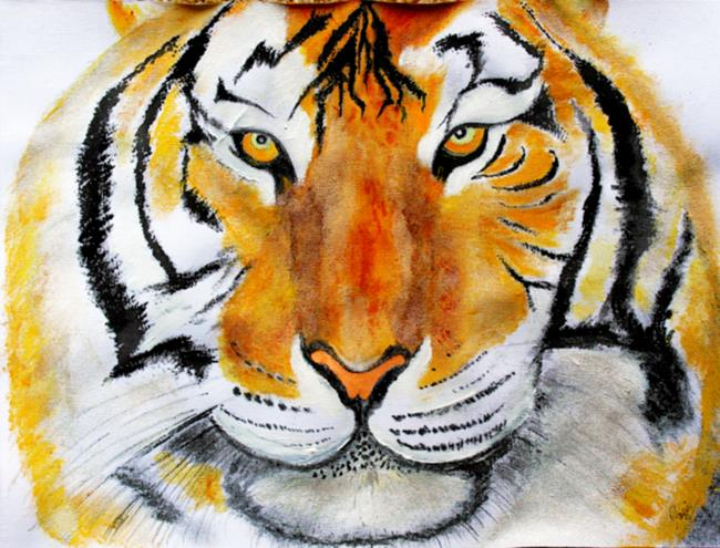Art: tiger fever 040515 print by Artist Rossi Kelton