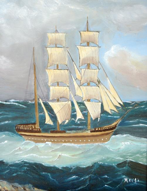 Art: Statsraad Lebmkuhl ship 040710 by Artist Rossi Kelton
