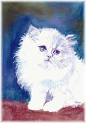 Art: silver and gold cat copy by Artist Rossana Kelton fine artist