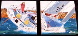 Art: sailing boat new style 052410 by Artist Rossana Kelton fine artist