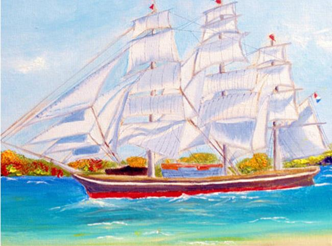 Art: Stad Amsterdan Clipper ship by Artist Rossi Kelton
