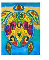 Art: spiritual turtle by Artist Rossana Kelton fine artist