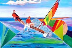Art: Twice the fun when you are having fun2 by Artist Rossana Kelton fine artist