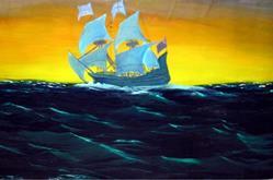 Art: Twilight storm at sea larger 2 by Artist Rossana Kelton fine artist