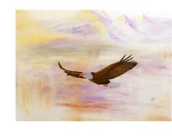 Art: where eagles fly by Artist Rossana Kelton fine artist