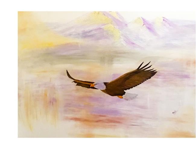 Art: where eagles fly by Artist Rossi Kelton