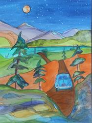 Art: Joy to the Road NFS by Artist Kathy Crawshay