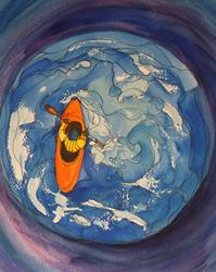 Art: Going with the Flow by Artist Kathy Crawshay