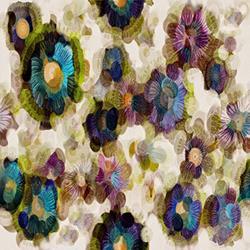 Art: Poppin Blooms by Artist Alma Lee